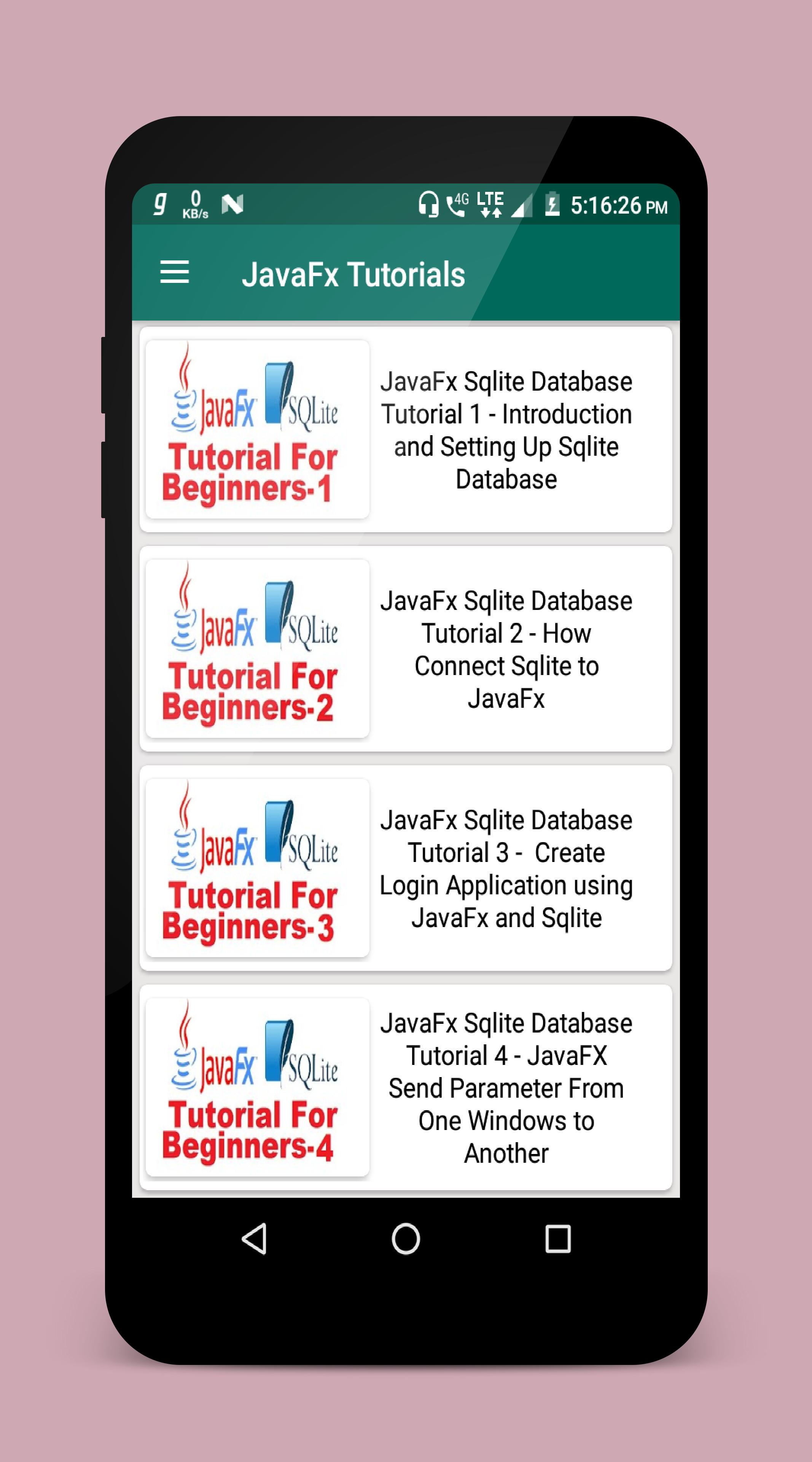 JavaFx Tutorial for Android - APK Download