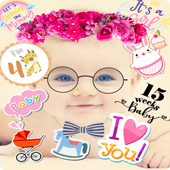 Baby Story Photo Editor 👶 Milestones for Babies icon