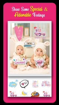 Baby Story Photo Editor 👶 Milestones for Babies poster