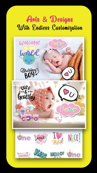 Baby Story Photo Editor 👶 Milestones for Babies screenshot 1
