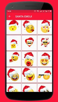 Christmas Stickers and Santa emoticons poster