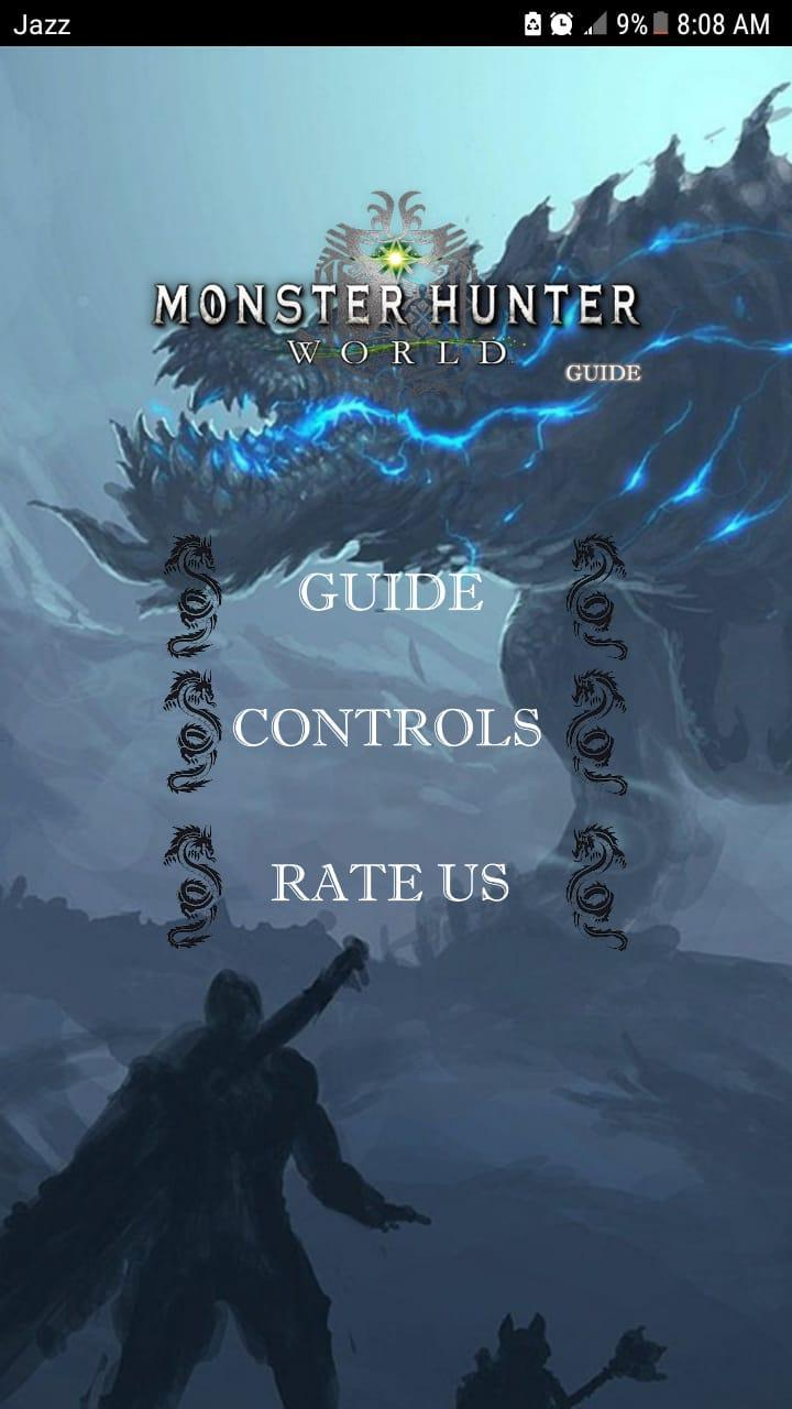 Guide for MH World poster
