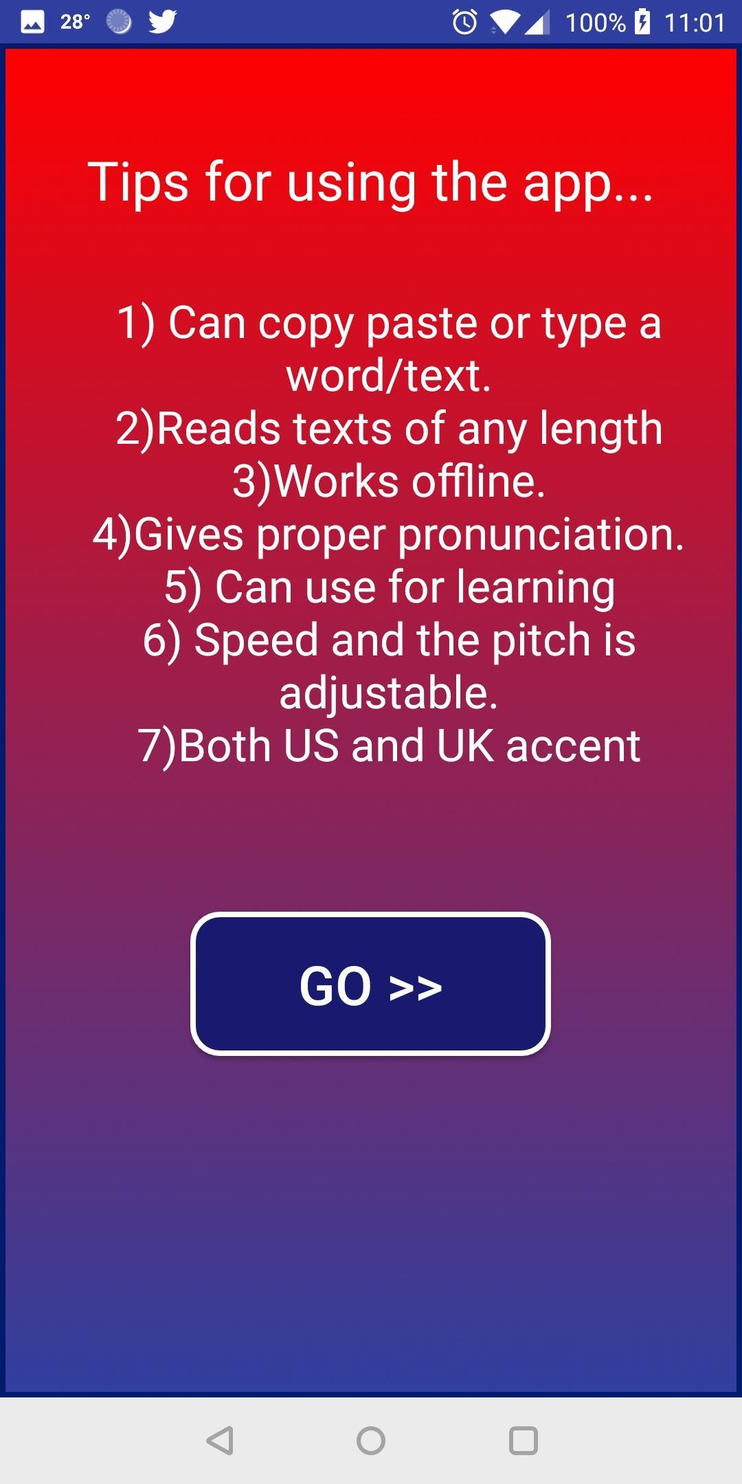 English pronunciation - British, American Accents pour Android