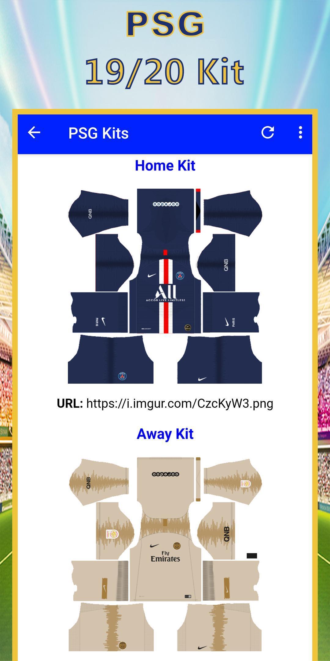 sale retailer e9a45 38261 Dls 19 Kits Psg Logo