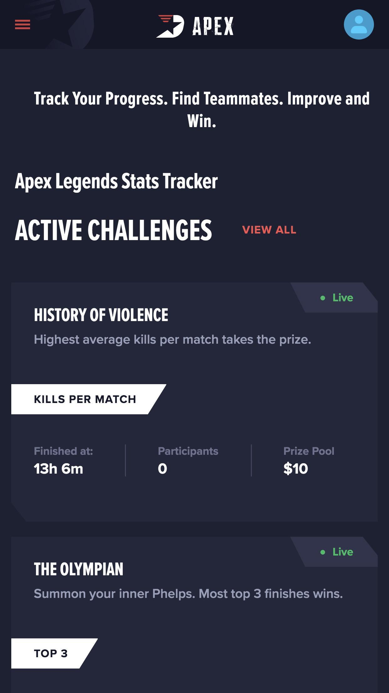where to see apex legends stats