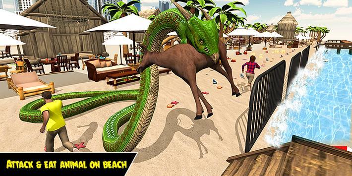 Dragon Snake Beach & City Attack Simulator 2019 screenshot 3