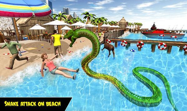 Dragon Snake Beach & City Attack Simulator 2019 screenshot 5