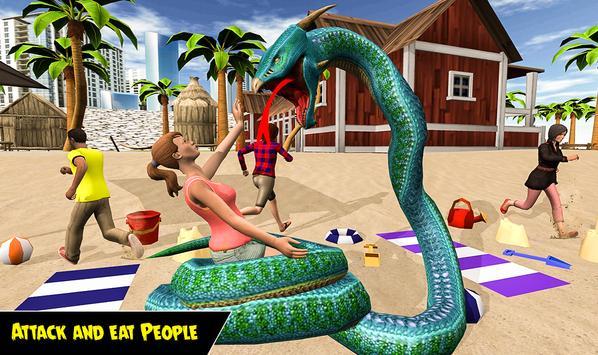 Dragon Snake Beach & City Attack Simulator 2019 screenshot 6