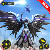 Flying Angel Superheroes Battle 2019 - Crime Time icon