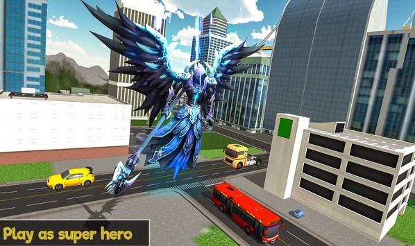 Flying Angel Superheroes Battle 2019 - Crime Time screenshot 5