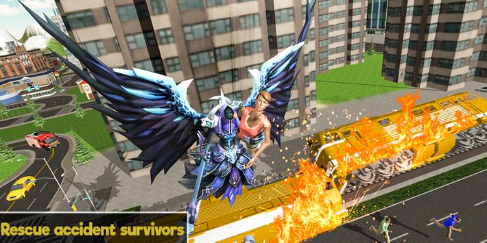 Flying Angel Superheroes Battle 2019 - Crime Time screenshot 1
