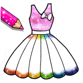 [APK] Glitter Dresses Coloring Book - Drawing pages Mod Download