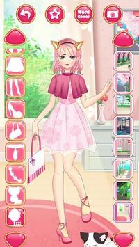 Anime Princess Dress Up - Girl Fashion Star Makeup screenshot 9