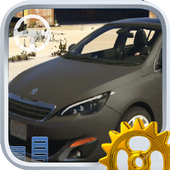 Real City Peugeot Driving Simulator 2019 icon
