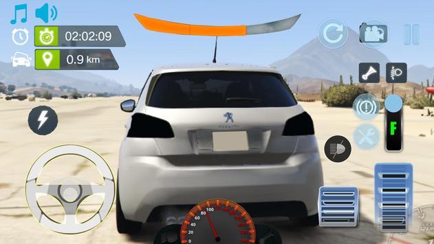 Real City Peugeot Driving Simulator 2019 screenshot 2