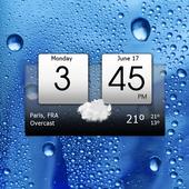 Digital clock & world weather icono