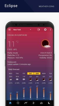 Eclipse weather icons capture d'écran 4
