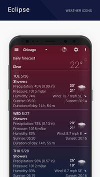 Eclipse weather icons capture d'écran 5