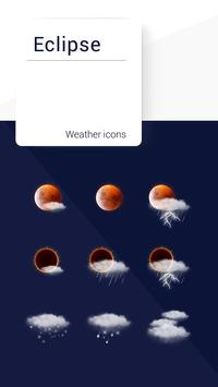 Eclipse weather icons Affiche