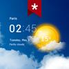 ساعة شفافة والطقس (Ad-free) أيقونة