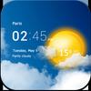 透明时钟和天气 图标