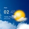 투명 시계 및 날씨 아이콘