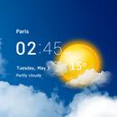 Transparent clock & weather - forecast & radar APK