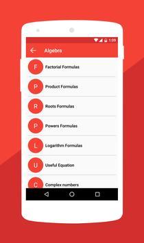 Matematik Formülleri Ekran Görüntüsü 4