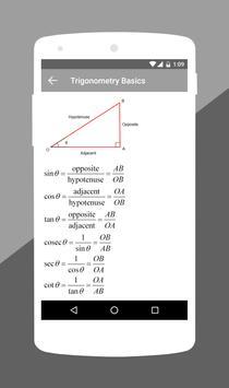 الصيغ الرياضيات - آلة حاسبة تصوير الشاشة 3
