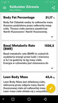 Wskaźnik Masy Ciała (BMI) i Idealna Waga Kalkulato screenshot 1