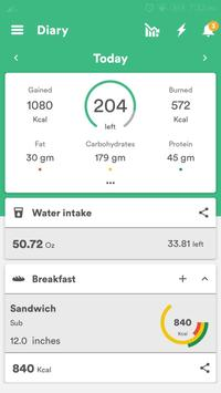 Health & Fitness Tracker with Calorie Counter screenshot 2