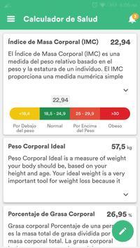 Salud y Dieta - Perder Peso & Contador de Calorias captura de pantalla 7