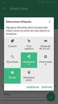 Salud y Dieta - Perder Peso & Contador de Calorias captura de pantalla 5