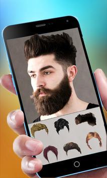 Cool Beard & Mustache Photo Editor-Man Hairstyles screenshot 2