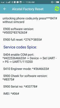Factory Reset Code screenshot 1