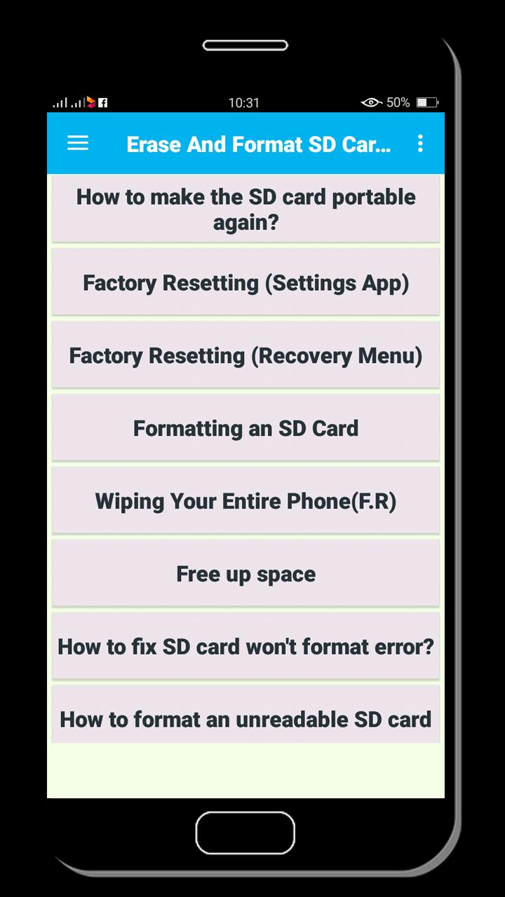 Erase And Format Sd Card Tricks Guide For Android Apk Download