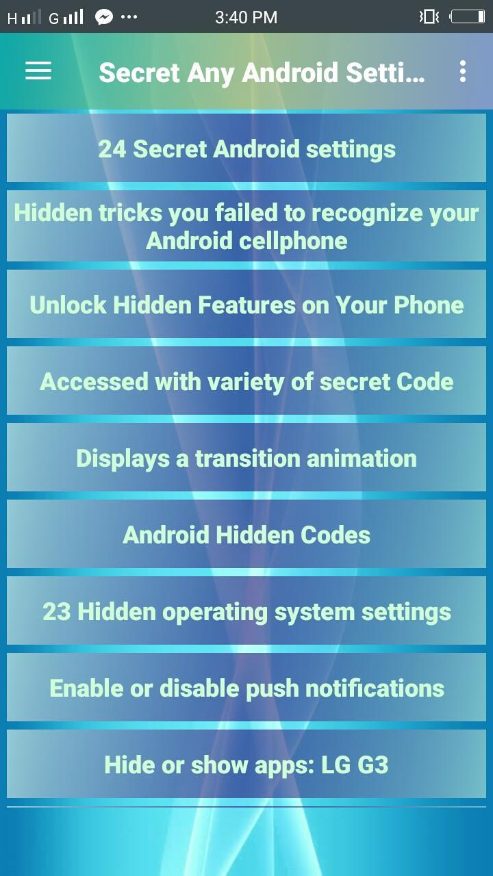 Secret Any Android Settings for Android - APK Download