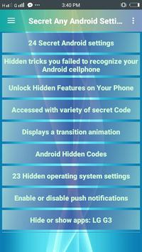 Secret Any Android Settings poster
