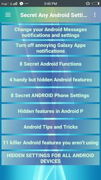 Secret Any Android Settings screenshot 1