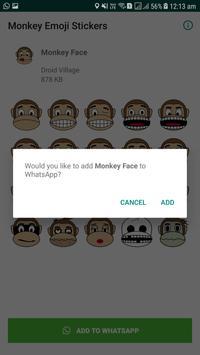 Monkey Emoji Stickers screenshot 2