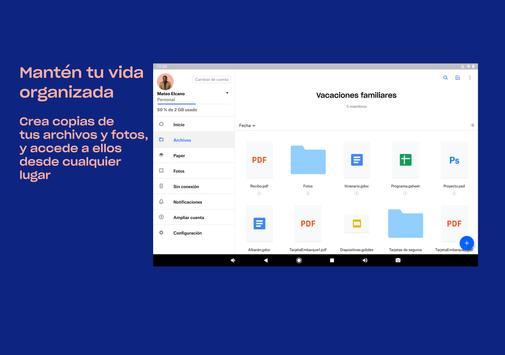 Dropbox captura de pantalla 7