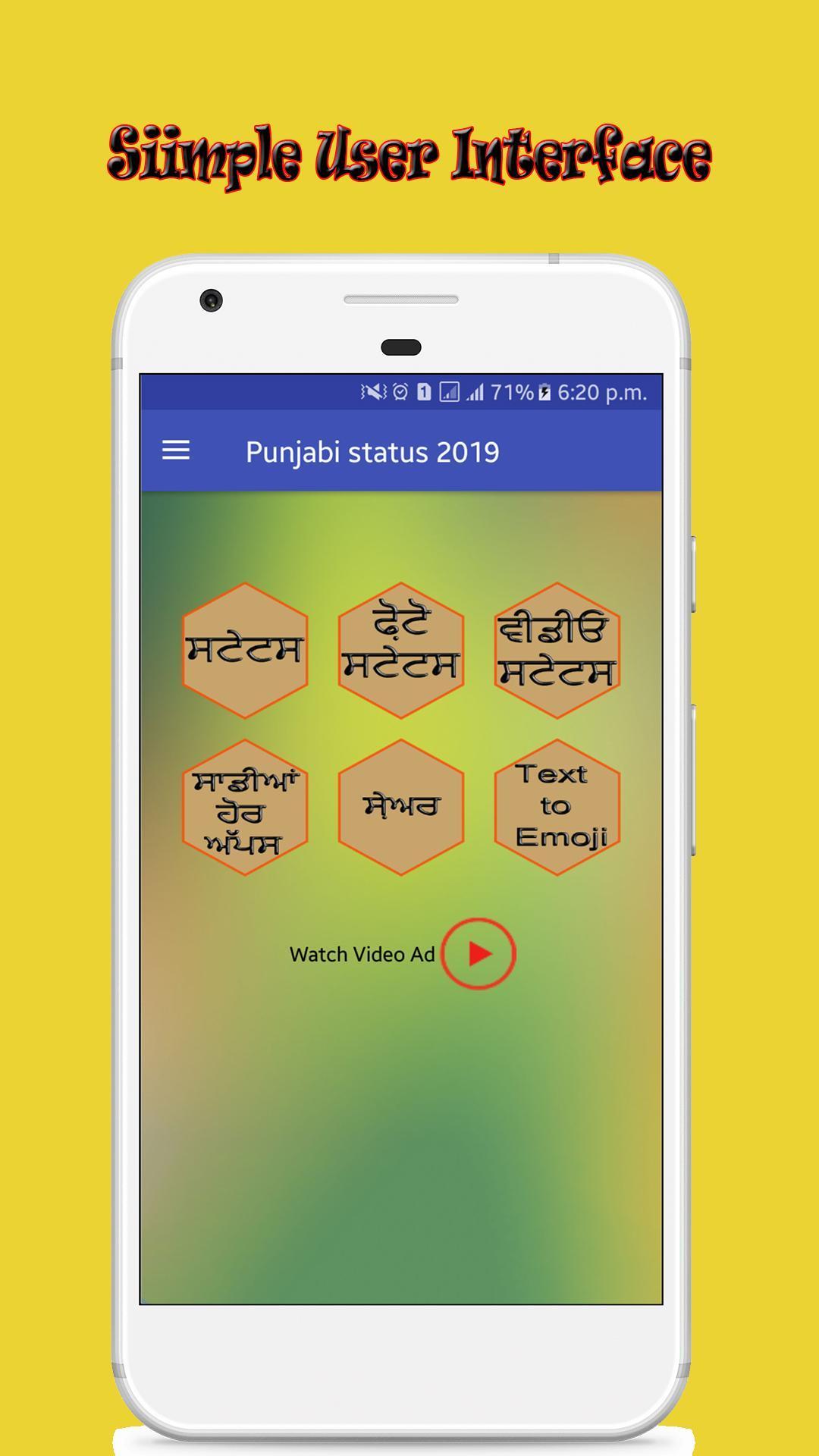 Punjabi Ghaint status -All Status-Text to Emoji for Android - APK