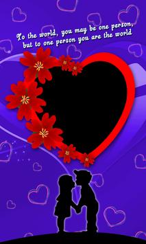 Happy Valentine's day 2019 Photo Frame & Wishes poster