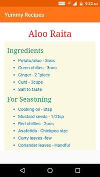 Yummy Recipes screenshot 2