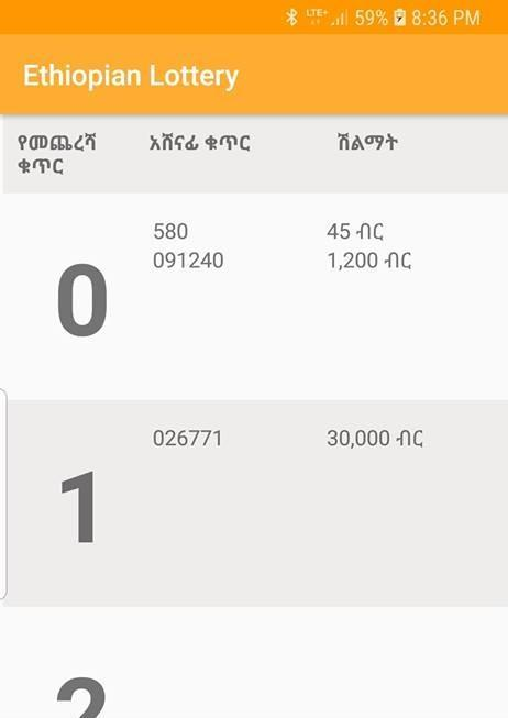 Ethiopian Lottery Results for Android - APK Download