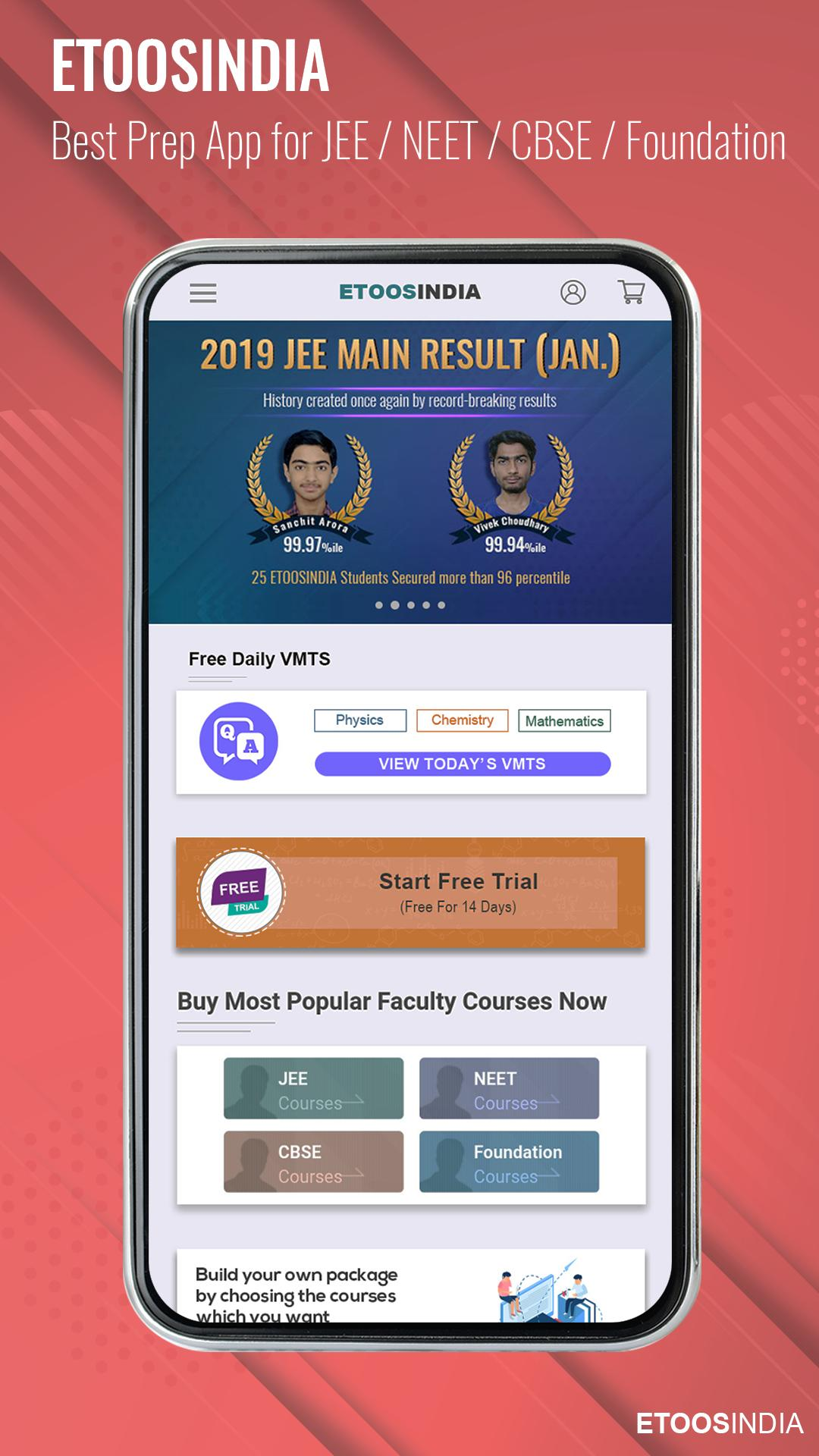 EtoosIndia: IIT JEE,NEET,CBSE,Foundation Prep App for