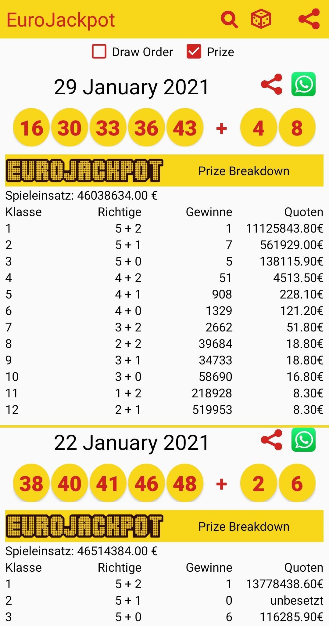 eurojackpot klasse 10