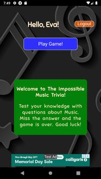 The Impossible Music Trivia poster