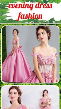 Evening dress fashion poster