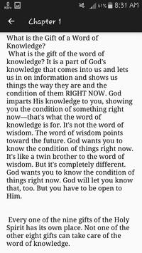 The Gift of The Word of Knowledge screenshot 1